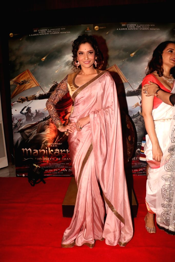 Actress Ankita Lokhande at the success party of her film 'Manikarnika: The Queen Of Jhansi', in Mumbai, on March 3, 2019. - Ankita Lokhande