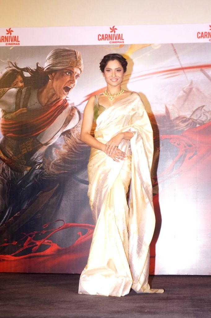 "Actress Ankita Lokhande at the trailer launch of her upcoming film ""Manikarnika: The Queen of Jhansi"" in Mumbai on Dec 18, 2018. - Ankita Lokhande"
