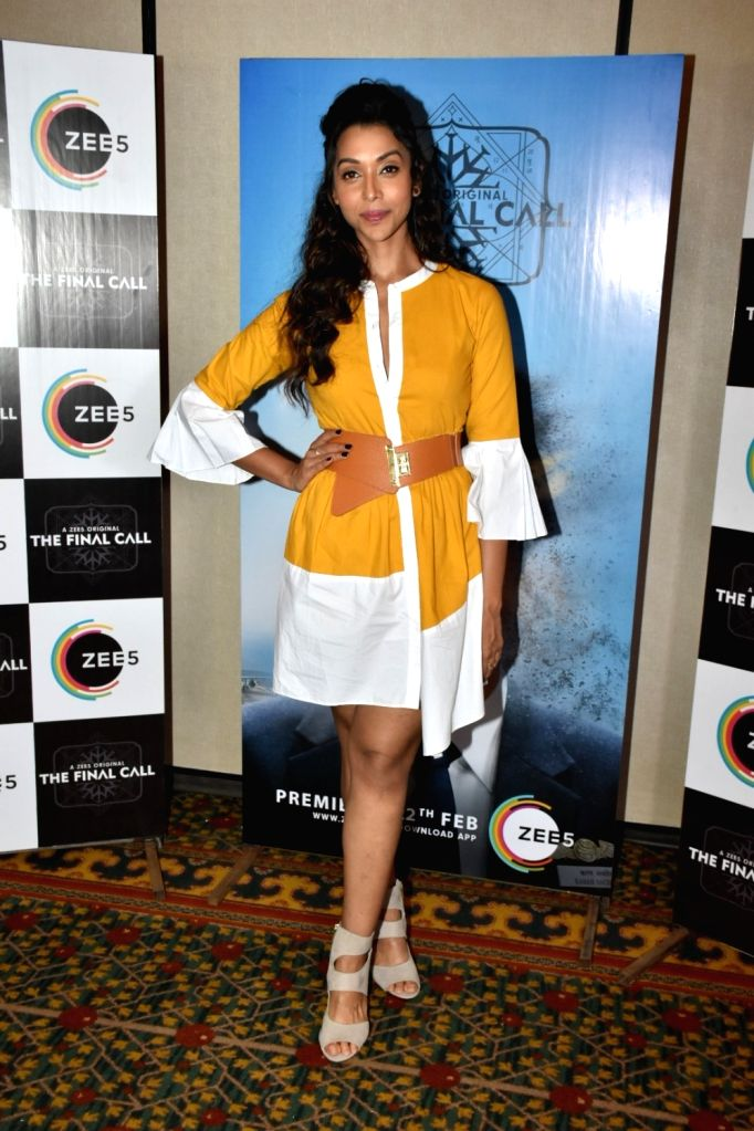"Actress Anupriya Goenka at the promotion of her upcoming web series ""The Final Call"" in Mumbai, on Feb 18, 2019. - Anupriya Goenka"