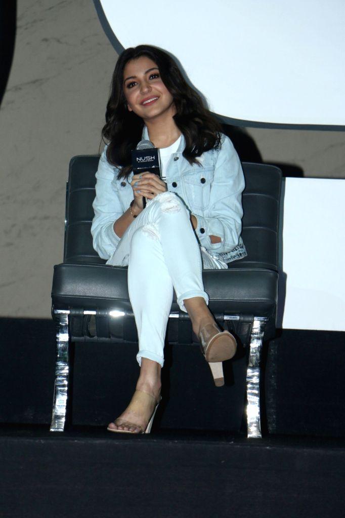 "Actress Anushka Sharma during the launch her Own Clothing Line ""Nush"" in Mumbai on Oct 3, 2017. - Anushka Sharma"