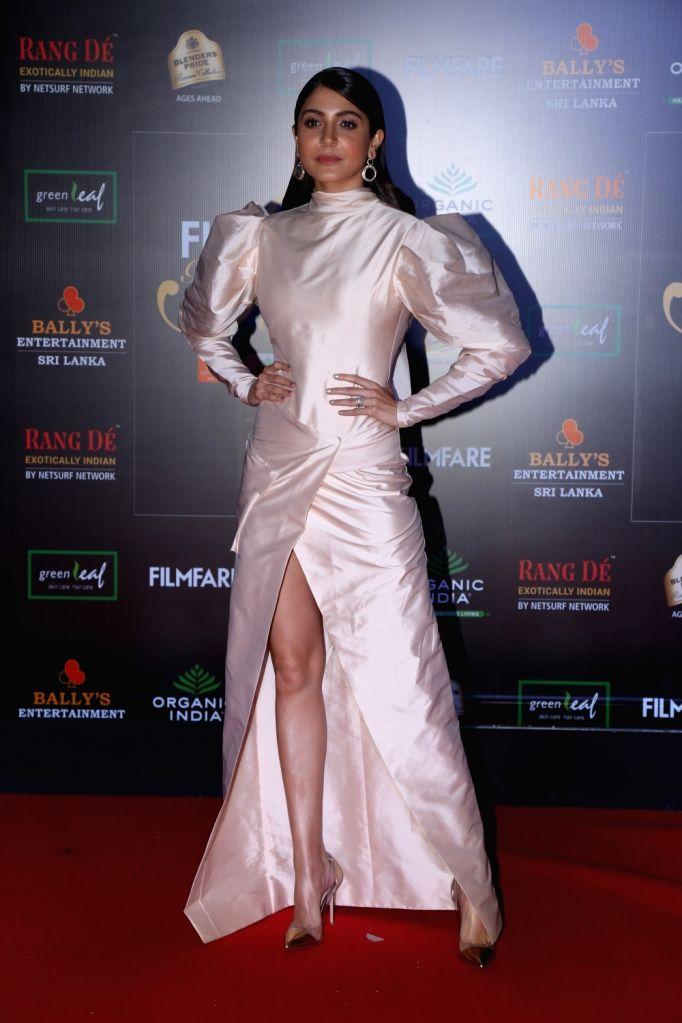 Actress Anushka Sharma on the red carpet of Filmfare Glamour And Style Awards 2019 in Mumbai on Dec 3, 2019. - Anushka Sharma