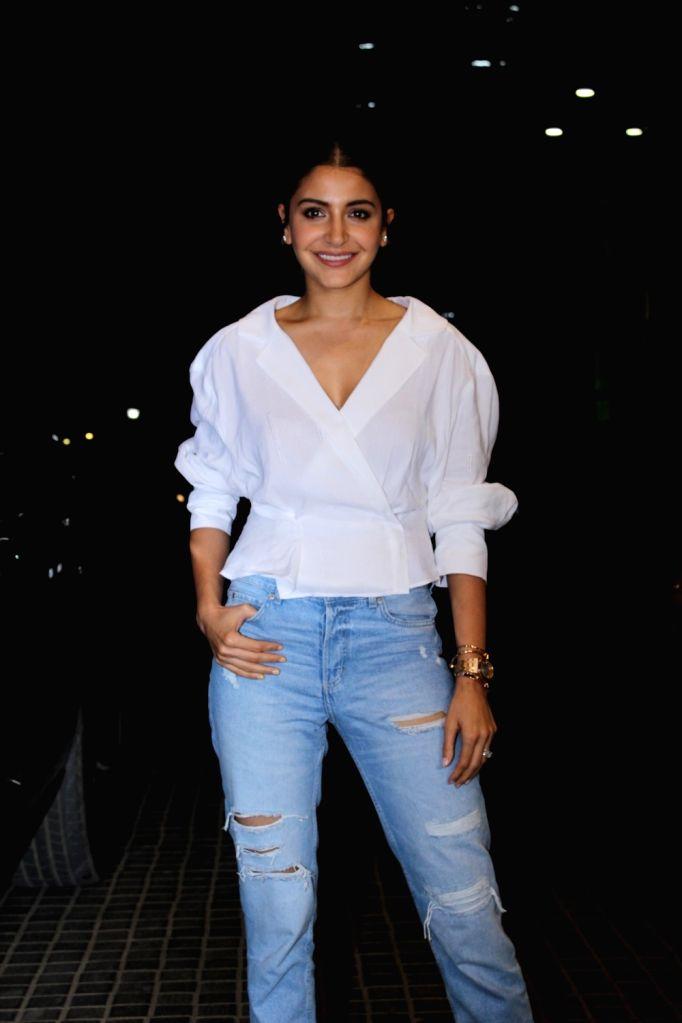 """Actress Anushka Sharma seen at the screening of upcoming film """"India's Most Wanted"""", in Mumbai, on May 23, 2019. - Anushka Sharma"""