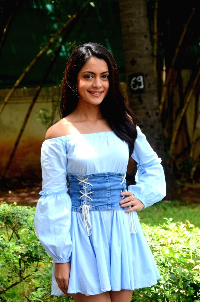 "Actress Anya Singh during the promotion of her upcoming film ""Qaidi Band"" in Mumbai on Aug 11, 2017. - Anya Singh"