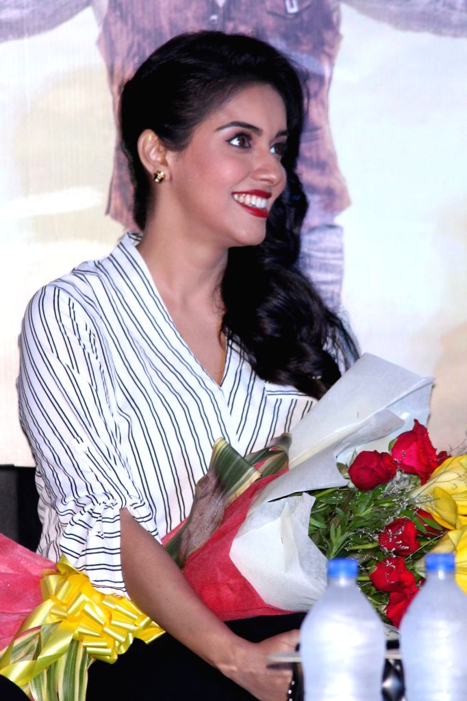 Actress Asin during a press conference to promote her upcoming film `All is Well` in Gurgaon, on Aug 10, 2015. - Asin