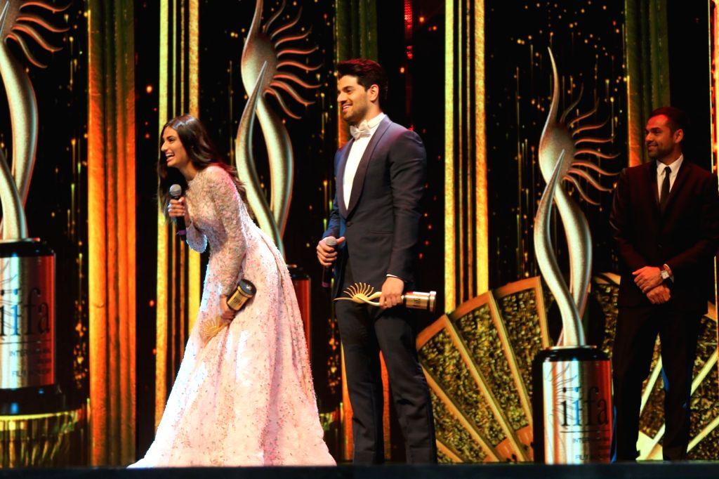 Actress Athiya Shetty and Sooraj Pancholi during IIFA Awards in Madrid on June 26, 2016. - Athiya Shetty