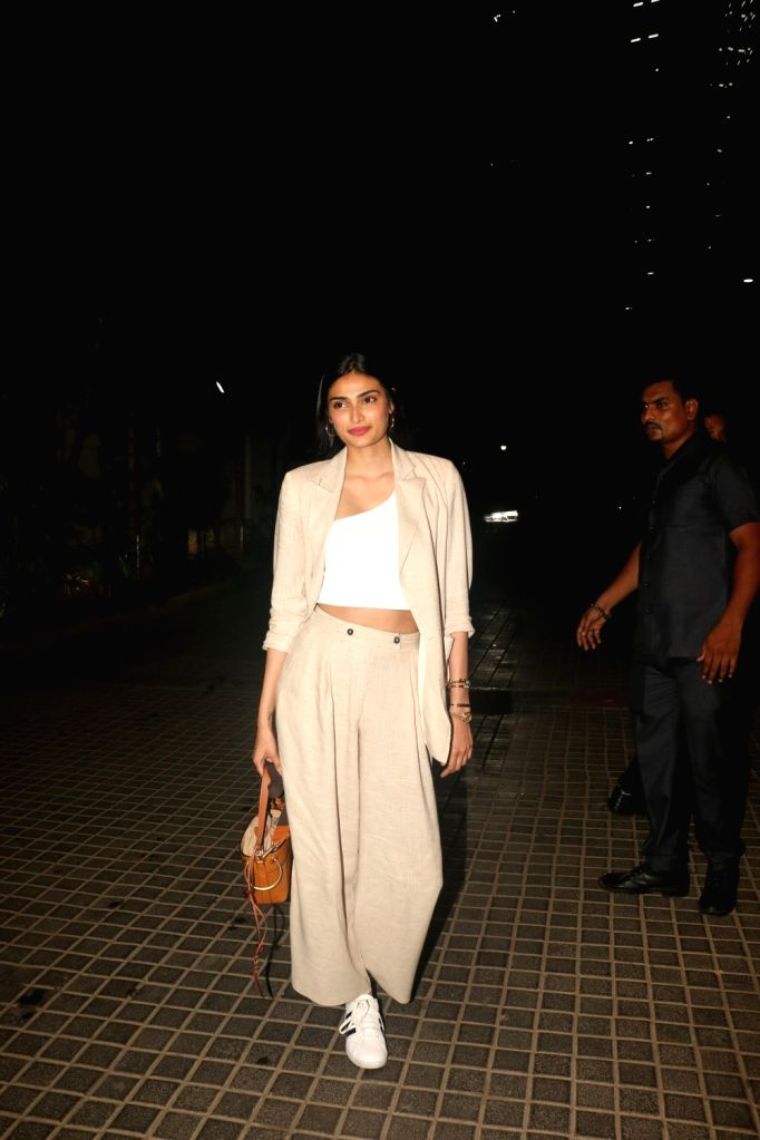 "Actress Athiya Shetty at the screening of the upcoming film ""India's Most Wanted"" in Mumbai, on May 22, 2019. - Athiya Shetty"