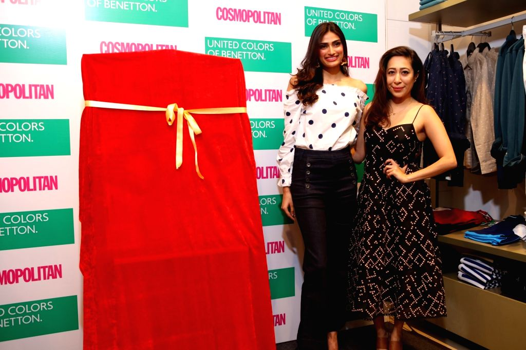 Actress Athiya Shetty during a programme organised to unveil the cover of Cosmopolitan's April 2018 Cover in New Delhi, on April 8, 2018. - Athiya Shetty