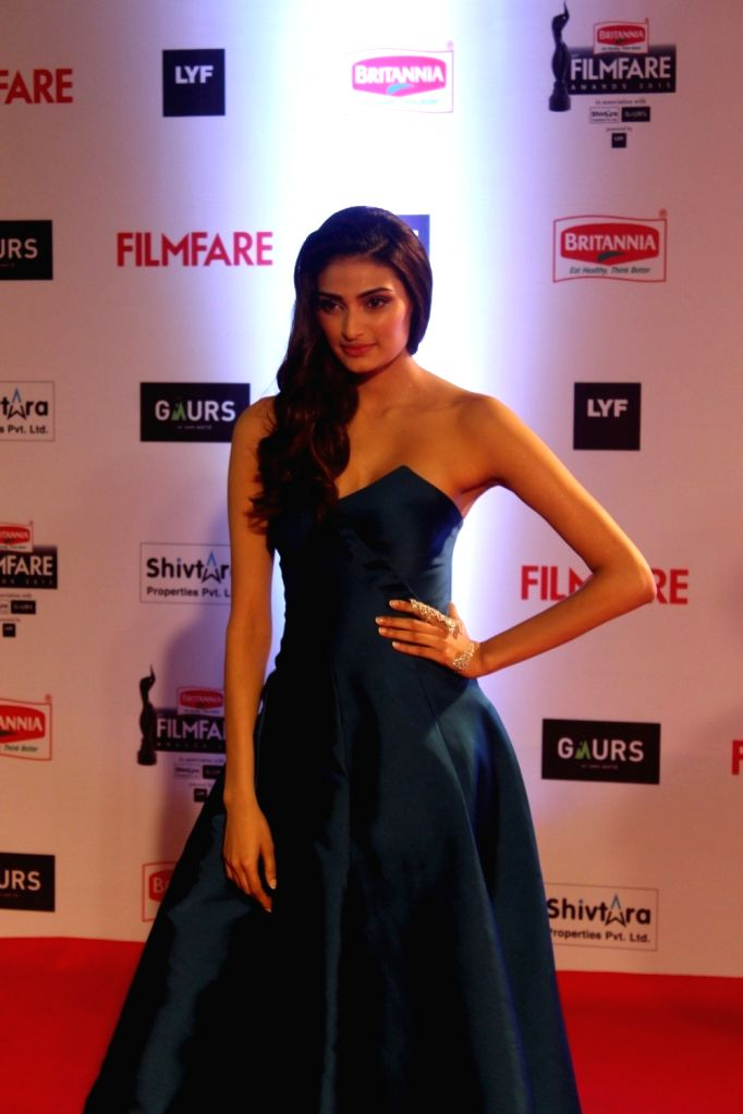 Actress Athiya Shetty during the 61st Britannia Filmfare Awards in Mumbai on January 15, 2016. - Athiya Shetty
