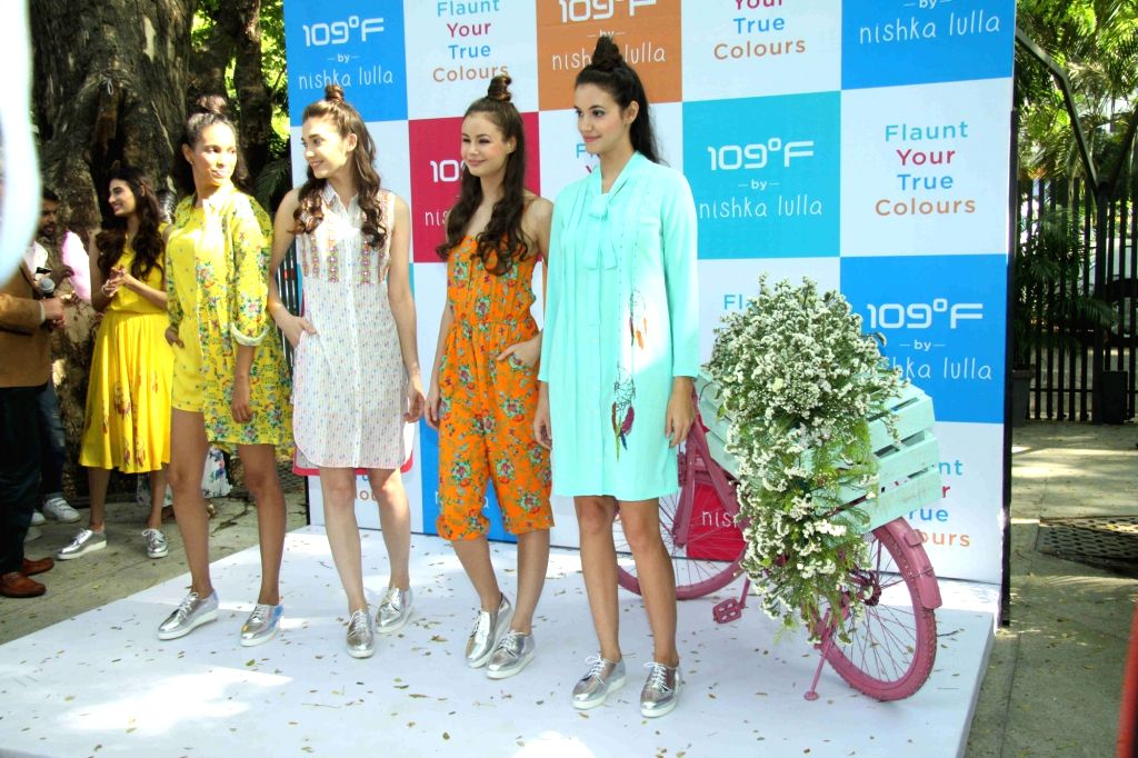 Actress Athiya Shetty during the unveiling of fashion designer Nishka Lulla's new summer collection in Mumbai on March 22, 2016. - Athiya Shetty
