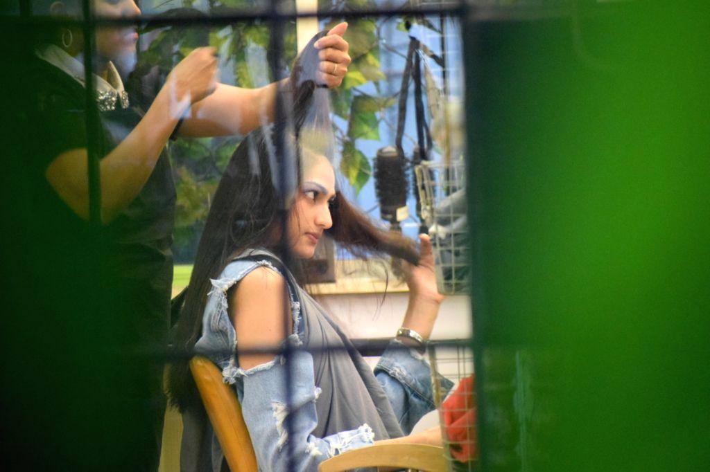 Actress Athiya Shetty seen at a salon in Mumbai on Feb 13, 2018. - Athiya Shetty