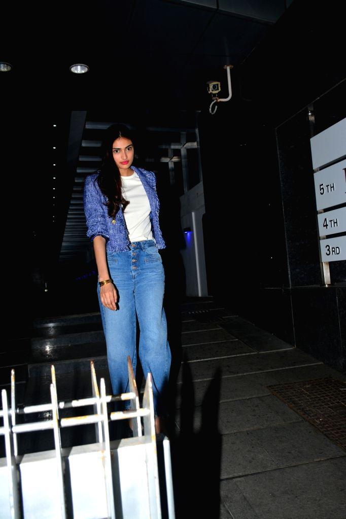 Actress Athiya Shetty seen at Mumbai's Bandra on Sept 17, 2018. - Athiya Shetty