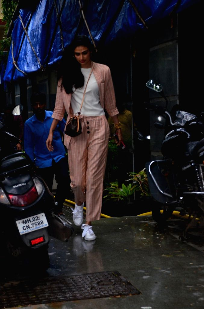 Actress Athiya Shetty seen at the office of casting director Mukesh Chhabra in Mumbai, on July 25, 2019. - Athiya Shetty