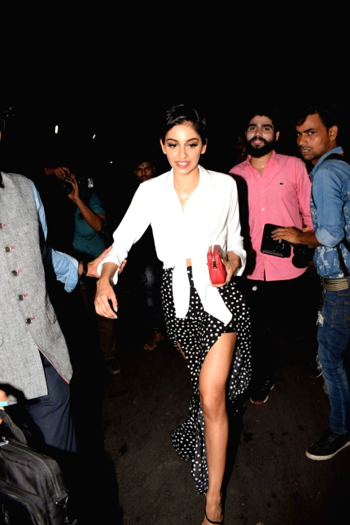"""Actress Banita Sandhu at the special screening of her film """"October"""" in Mumbai on April 12, 2018. - Banita Sandhu"""