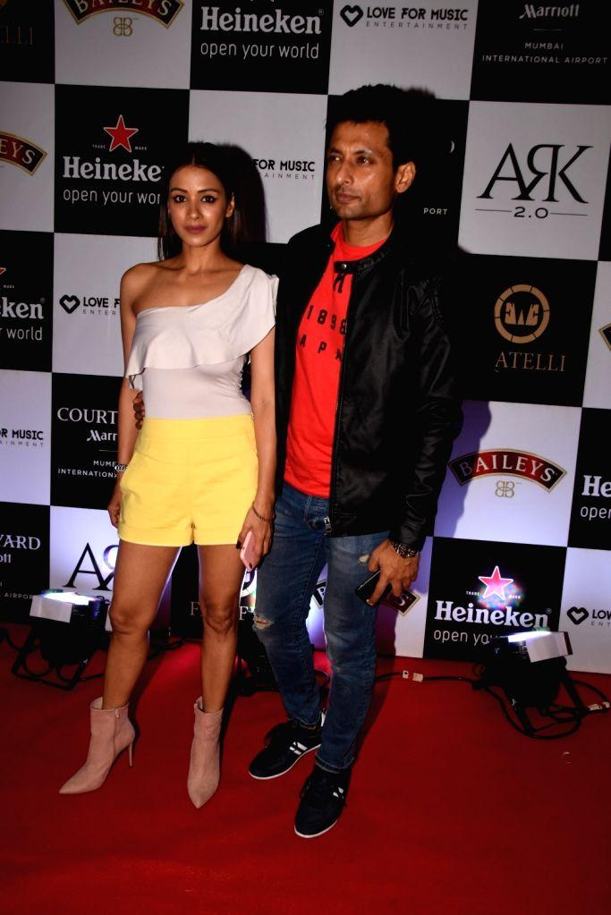 Actress Barkha Sengupta along with her husband Indraneil Sengupta during a programme in Mumbai on Nov 1, 2018. - Barkha Sengupta