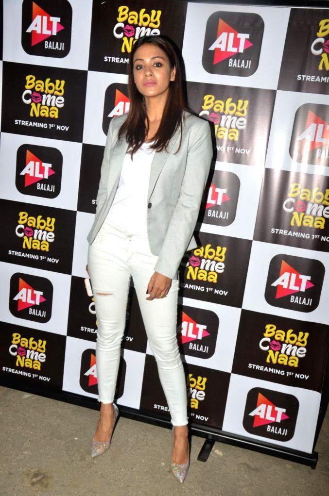 "Actress Barkha Sengupta at the screening of ALT Balaji's ""Baby Come Naa"" web series in Mumbai on Oct 30, 2018. - Barkha Sengupta"