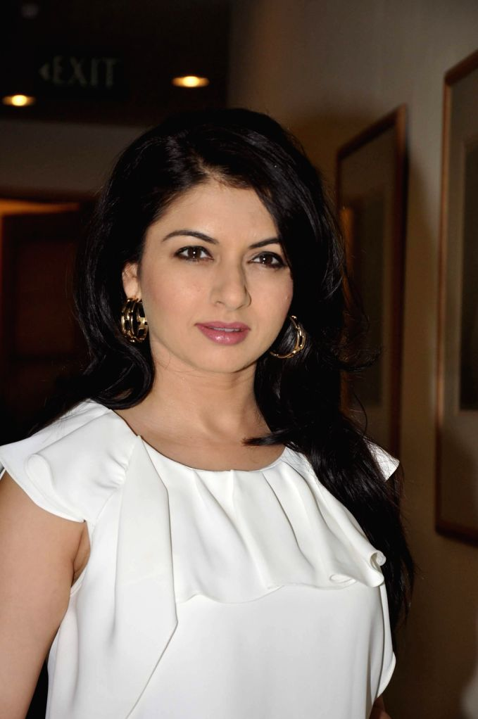 """Actress Bhagyashree during the announcement of the forthcoming panel discussion of """"Domestic Abuse & Battered Women Responsibility & Obligations of the Privileged Class"""" in Mumbai .. - Bhagyashree"""