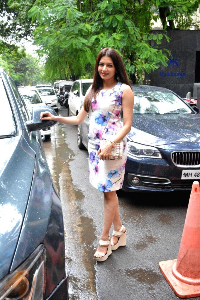 Actress Bhagyashree seen at Mumbai's Bandra on Aug 4, 2018. - Bhagyashree