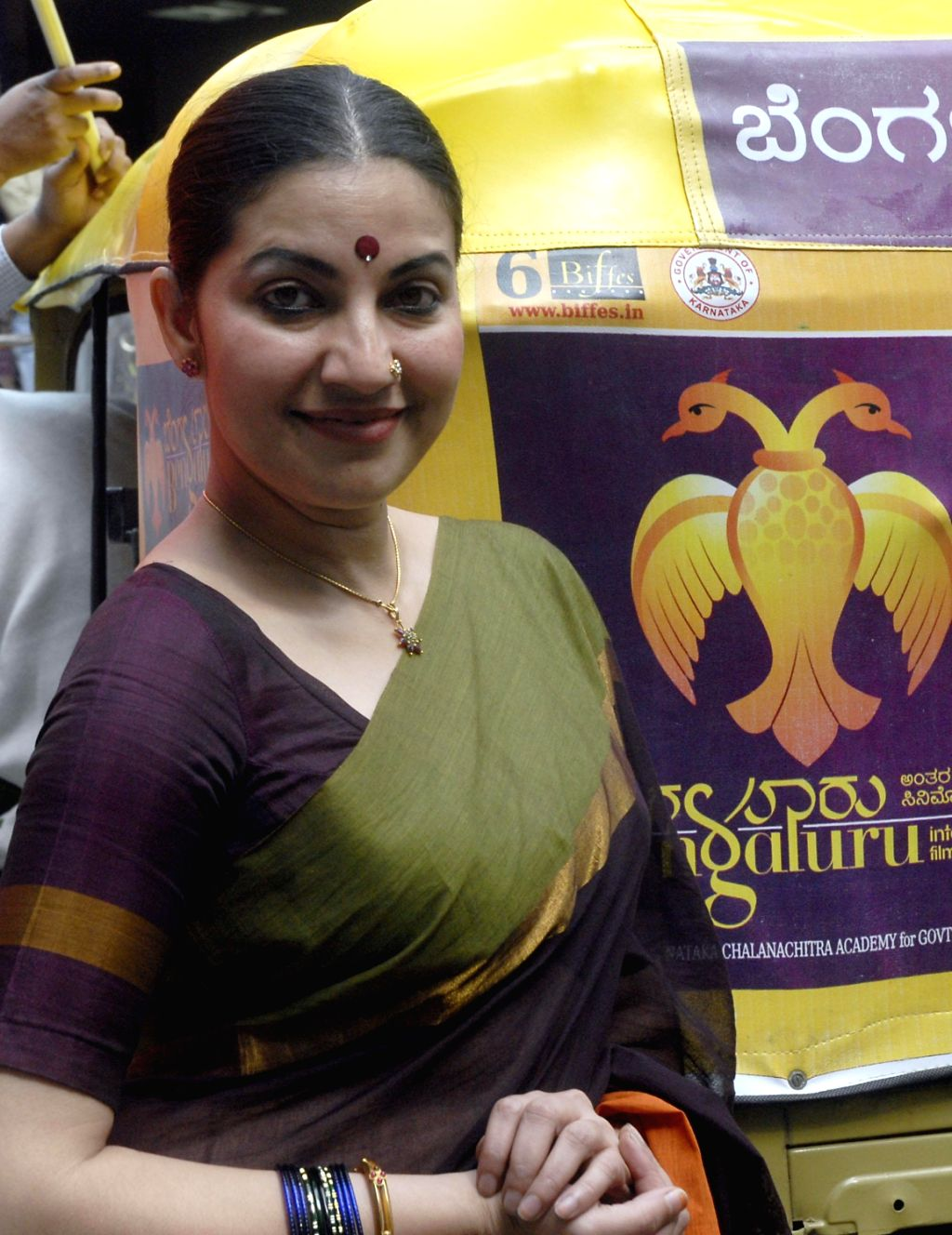 Actress Bhavana launches publicity vehicles of 6th edition of BIFFES - Bangalore International Film Festival at Information Department in Bangalore on Dec.13, 2013. - Bhavana