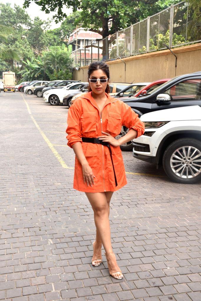 "Actress Bhumi Pedneka during the promotions of her upcoming film ""Pati Patni Aur Woh"" in Mumbai on Nov 30, 2019. - Bhumi Pedneka"