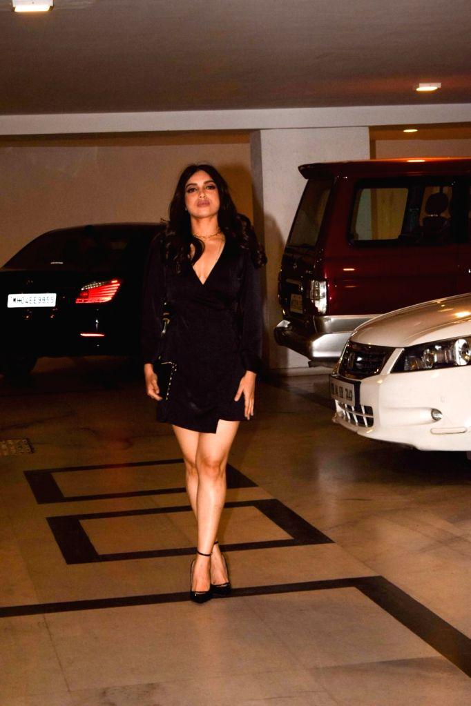 Actress Bhumi Pednekar at the filmmaker Karan Johar's valentine party Mumbai on Feb 14, 2018. - Bhumi Pednekar