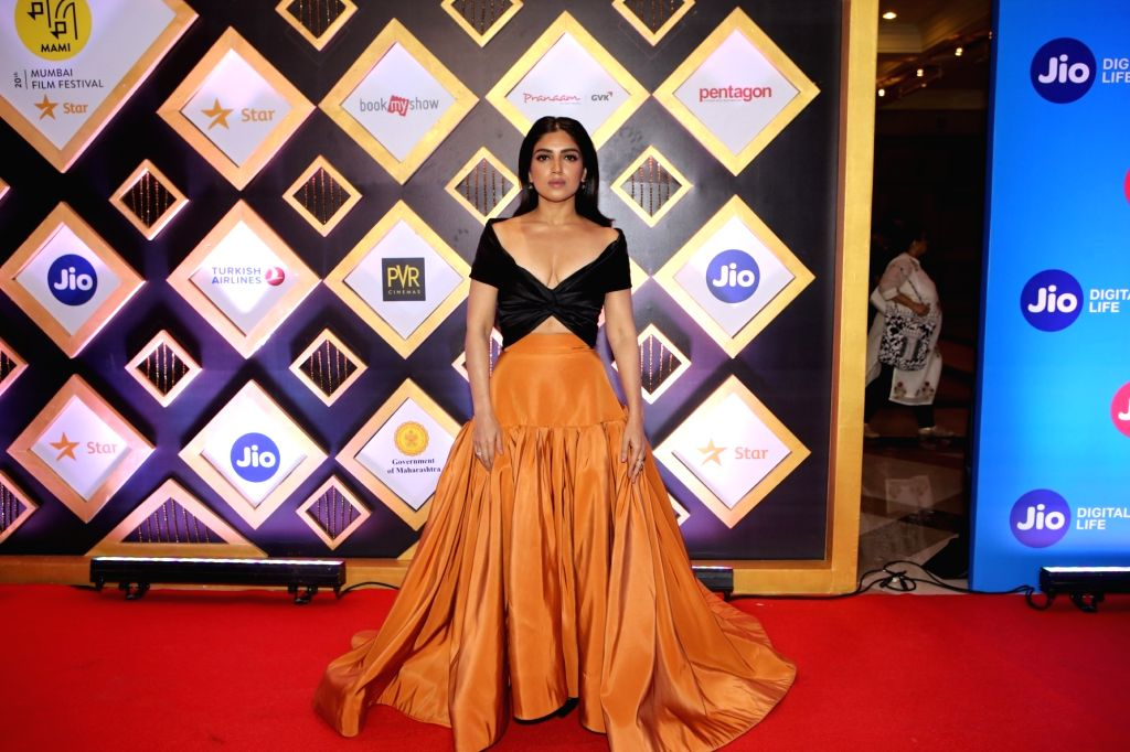 Actress Bhumi Pednekar at the Jio MAMI 20th Mumbai Film Festival concluded in Mumbai on Nov 1, 2018. - Bhumi Pednekar