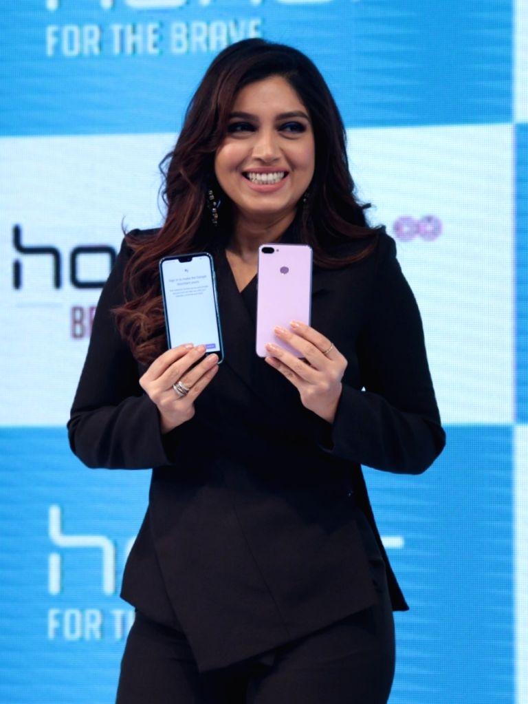 "Actress Bhumi Pednekar at the launch of  ""Honor 9N"" smartphone, in New Delhi on  July 24, 2018. - Bhumi Pednekar"