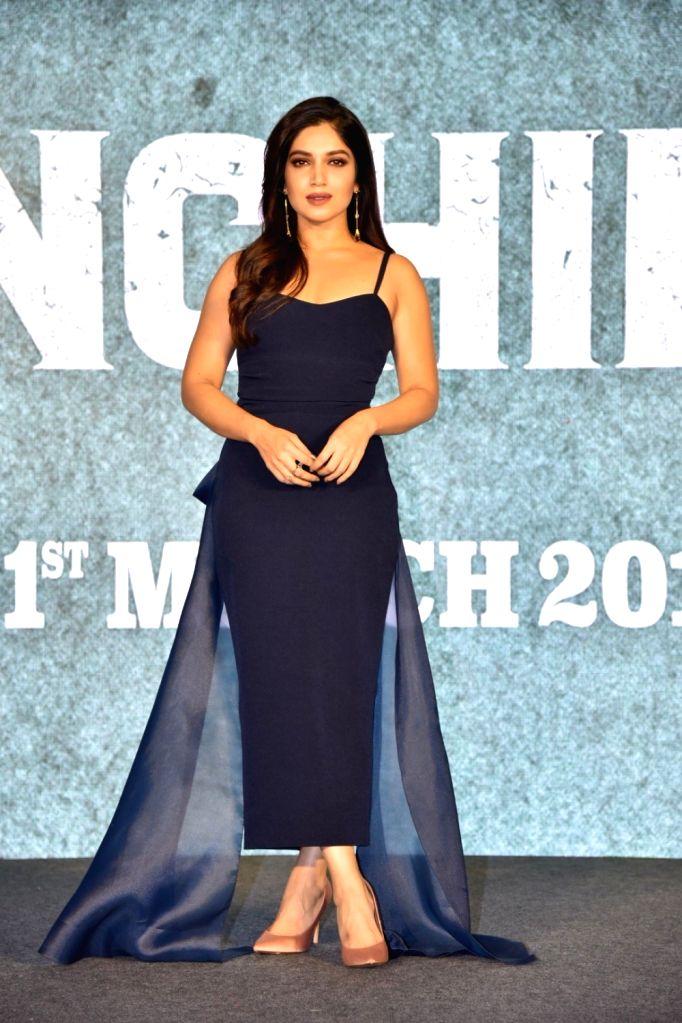 Actress Bhumi Pednekar during a press conference to promote her upcoming film 'Sonchiriya' in Mumbai, on Feb 9, 2019. - Bhumi Pednekar