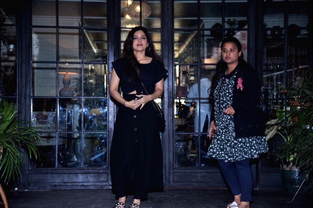 Actress Bhumi Pednekar seen at a club in Mumbai's Juhu on  Feb 6, 2019. - Bhumi Pednekar