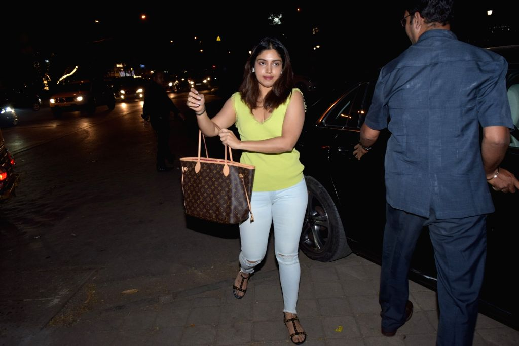 Actress Bhumi Pednekar seen at a Juhu salon in Mumbai on Nov 21, 2019. - Bhumi Pednekar