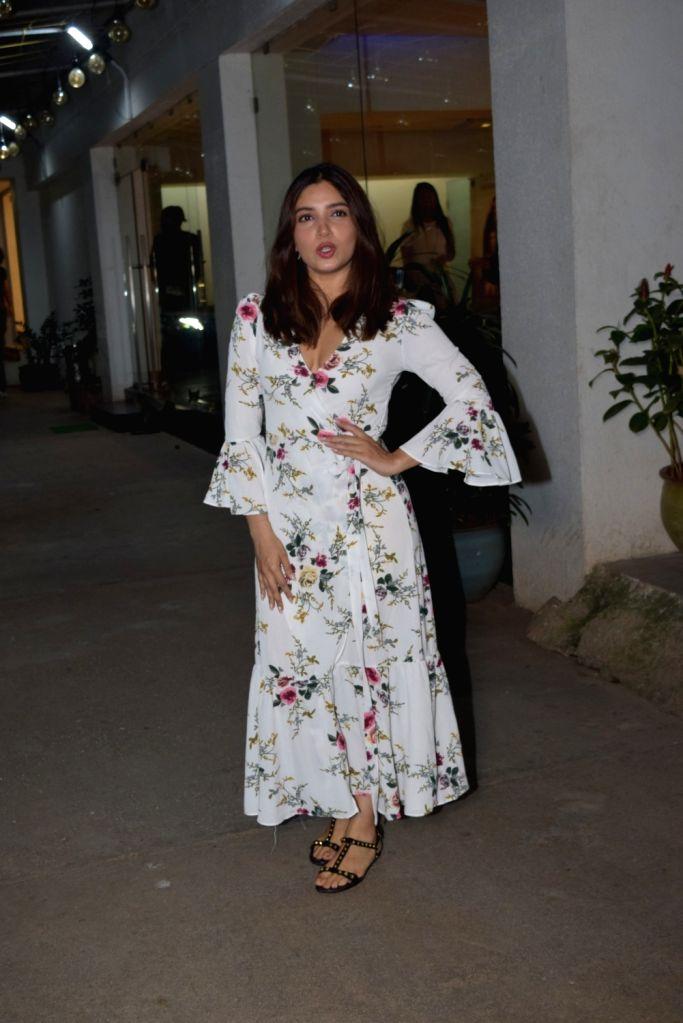 Actress Bhumi Pednekar seen at a recording studio at Juhu in Mumbai on Nov 12, 2019. - Bhumi Pednekar