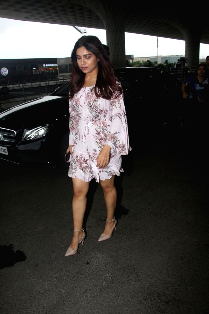 Actress Bhumi Pednekar seen at Chhatrapati Shivaji International Airport in Mumbai on July 23, 2018. - Bhumi Pednekar
