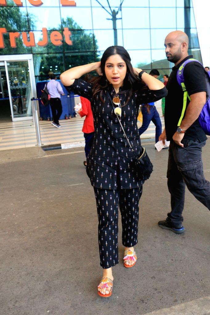 Actress Bhumi Pednekar seen at Mumbai airport on May 25, 2019. - Bhumi Pednekar