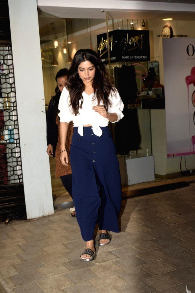 Actress Bhumi Pednekar seen at Mumbai's Juhu, on Feb 5, 2019. - Bhumi Pednekar