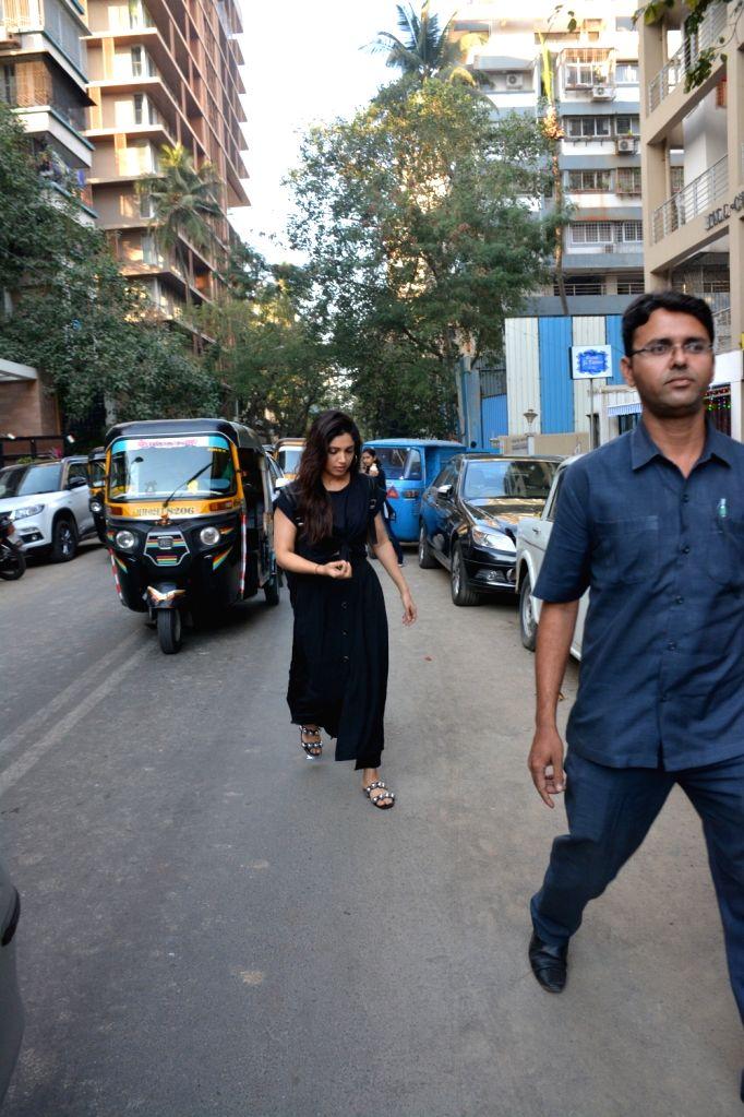 Actress Bhumi Pednekar seen at Mumbai's Juhu on Feb 6, 2019. - Bhumi Pednekar