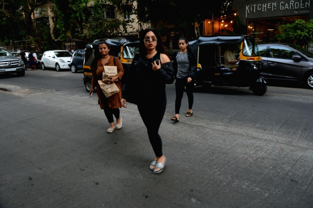 Actress Bhumi Pednekar seen at Mumbai's Juhu on May 4, 2019. - Bhumi Pednekar