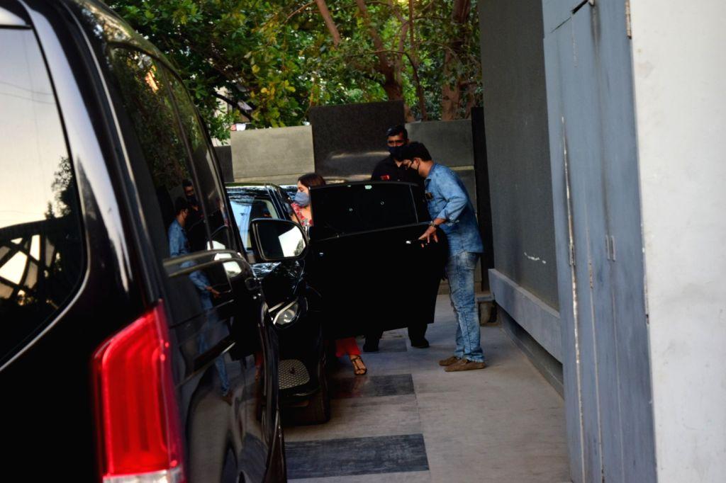 Actress Bhumi Pednekar seen at the office of Pooja Films in Mumbai's Juhu on Nov 14, 2020. - Bhumi Pednekar