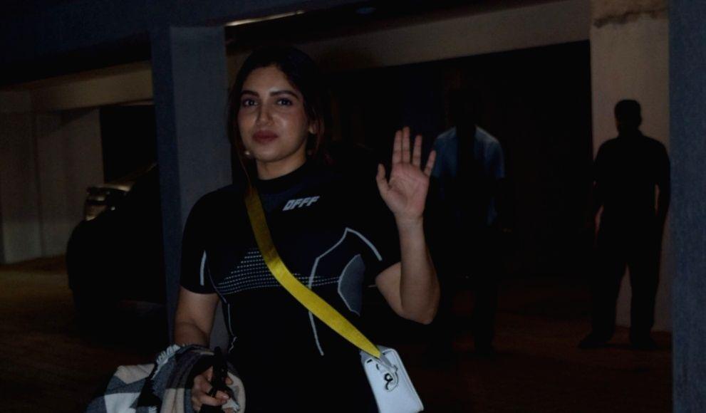 Actress Bhumi Pednekar seen at the office of Maddock Films in Mumbai's Santacruz on Jan 10, 2020. - Bhumi Pednekar