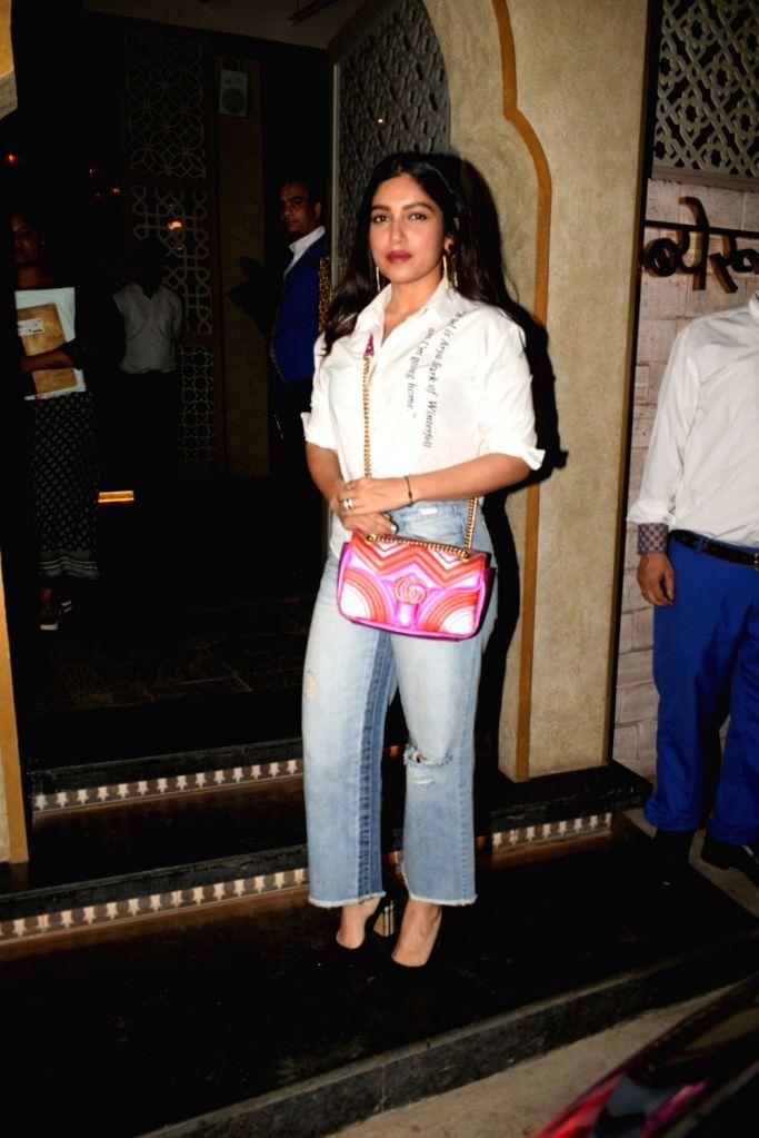 Actress Bhumi Pednekar seen in Mumbai's Juhu, on April 24, 2019. - Bhumi Pednekar