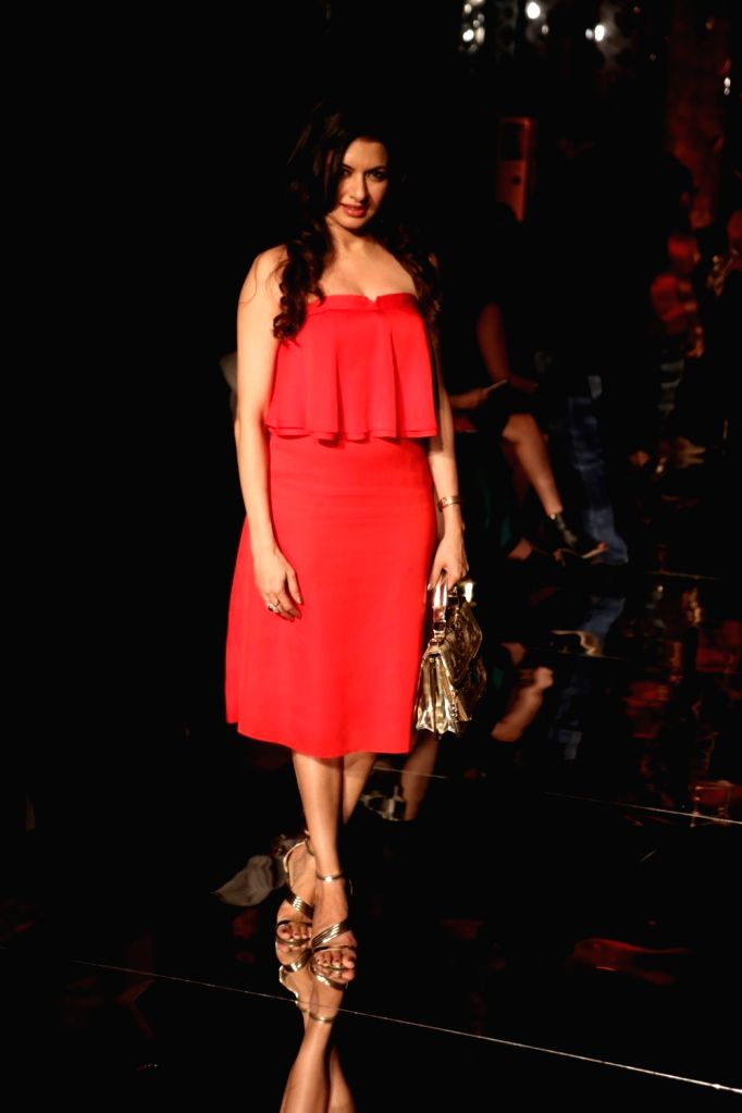Actress Bhumika Chawla during the Lakme Fashion Week Winter/Festive 2017 in Mumbai on Aug 18, 2017. - Bhumika Chawla