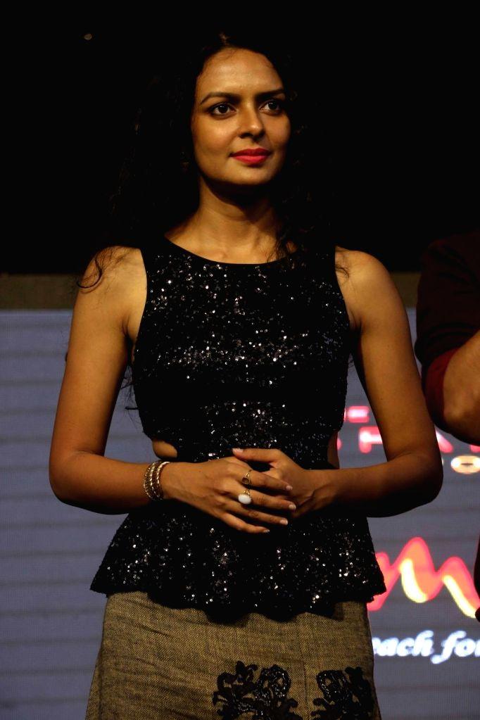 "Actress Bidita Bag during the promotion of film ""Babumoshai Bandookbaaz"" at Umang Festival in Mumbai on Aug 14,, 2017. - Bidita Bag"