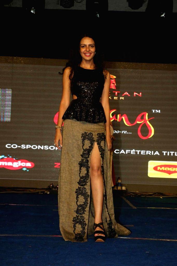"Actress Bidita Bag during the promotion of film ""Babumoshai Bandookbaaz"" at Umang Festival in Mumbai on Aug 14, 2017. - Bidita Bag"