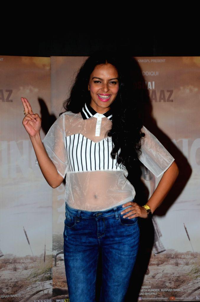 "Actress Bidita Bag during the promotion of her upcoming film ""Babumoshai Bandookbaaz"" in Mumbai on Aug 10, 2017. - Bidita Bag"