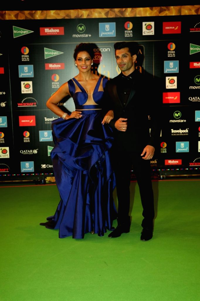 Actress Bipasha Bashu and Karan Singh Grover during IIFA Awards in Madrid on June 26, 2016. - Bipasha Bashu and Karan Singh Grover
