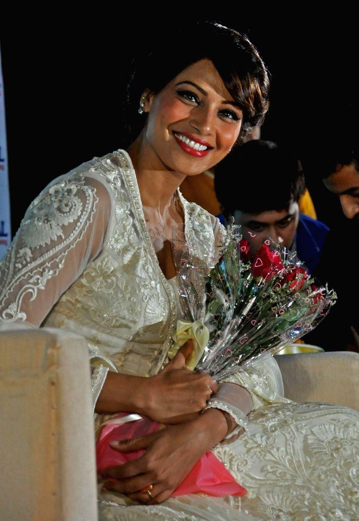 Actress Bipasha Basu during a press conference to promote her upcoming film 'Creature 3D' in Kolkata on Sept 9, 2014. - Bipasha Basu