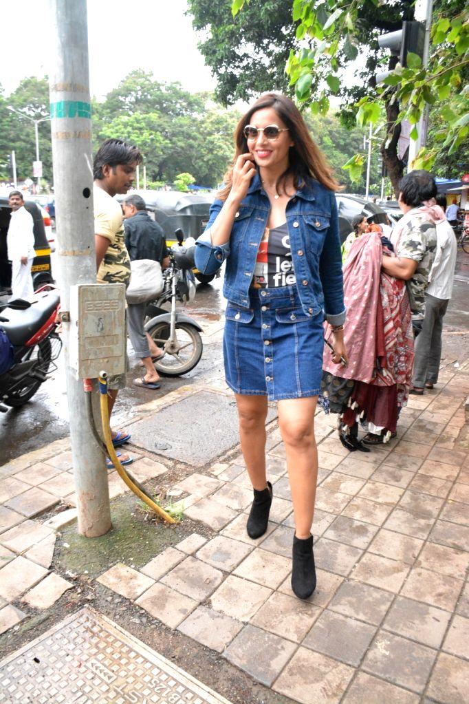 Actress Bipasha Basu seen at Mumbai's Bandra on Aug 4, 2018. - Bipasha Basu
