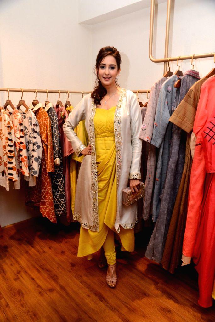 Actress Chahat Khanna at the launch of fashion designer Pallavi Goyal's new store in Mumbai, on May 5 , 2019. - Chahat Khanna