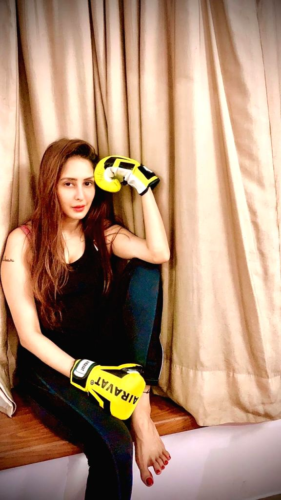 Actress Chahatt Khanna is learning Mixed Martial Arts (MMA) and is also influencing kids in her society to take up the combat sport. - Chahatt Khanna