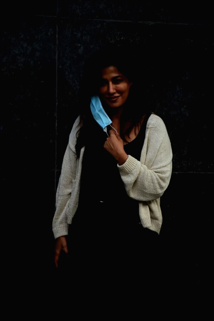 Actress Chitrangada Singh seen at Bandra in Mumbai on Nov 30, 2020. - Chitrangada Singh