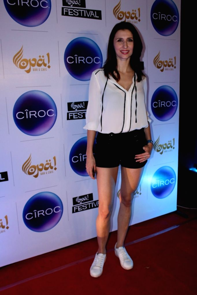 Actress Claudia Ciesla during the celebration of Opa Bar and Cafe 1st anniversary, in Mumbai on Nov 22, 2016. - Claudia Ciesla