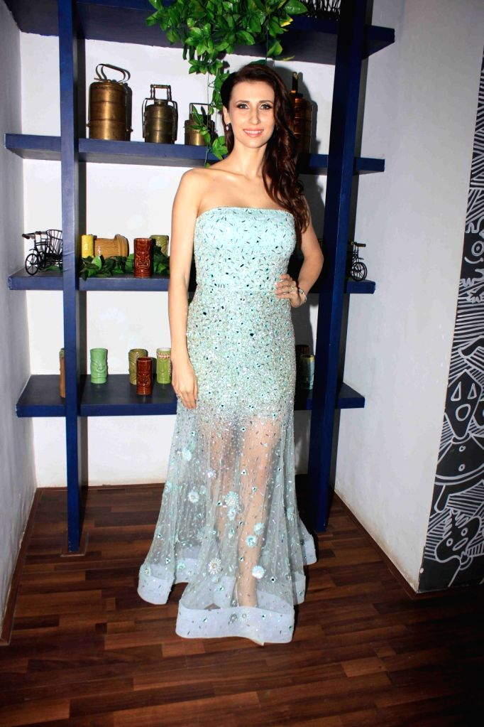 Actress Claudia Ciesla during the launch of her book on nutrition 'Keep Eating Keep Losing' in Mumbai on June 1, 2016. - Claudia Ciesla